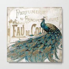 Peacock Jewels Metal Print