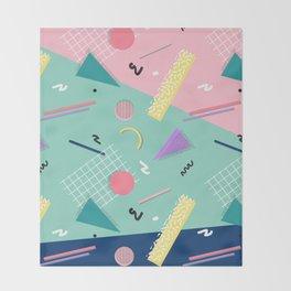 Dreaming 80s Pattern #society6 #decor #buyart Throw Blanket