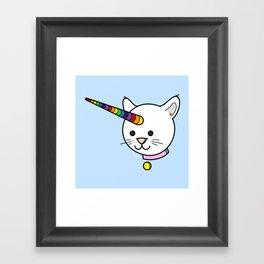 Caticorn: Rare with Rainbow Framed Art Print