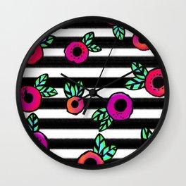 Stripes a Poppin Wall Clock