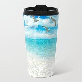 Sunny Day at the Beach Travel Mug