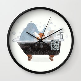 little bath time Wall Clock