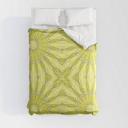 Yellow Pinwheel Flower Comforters