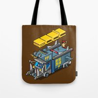 acdc Tote Bags featuring ACDC: ROCK ON! by paragraph