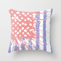 introvert Throw Pillows featuring DRENCH.american introvert by instantgaram