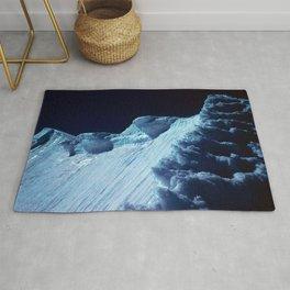 NATURE'S WONDER #2 - Glacier in the dark #art #society6 Rug