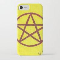 pentagram iPhone & iPod Cases featuring Pentagram by Ria-Ra