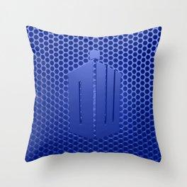Tardis Logo Throw Pillow