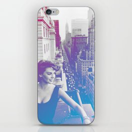 Natalie Wood Cityscape iPhone Skin
