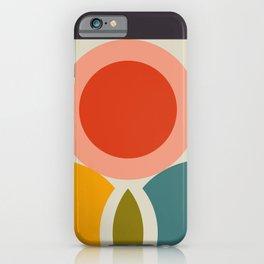 mid century bauhaus geometry large 2 iPhone Case
