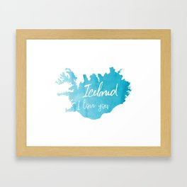 Iceland I love you Framed Art Print