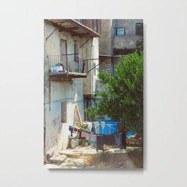 Hang-Drying Laundry Metal Print
