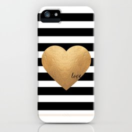GOLD HEART PRINT, Heart Print,Heart Sign,Heart Decor,Gold Print,Gold Foil,Love Word,Love Quote,Love iPhone Case