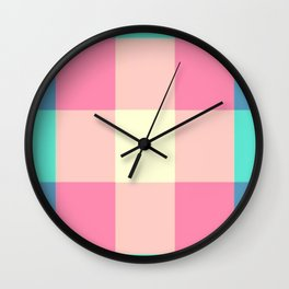 Stripes and Squares Wall Clock