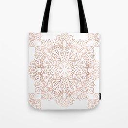 Mandala Rose Gold Pink Shimmer by Nature Magick Tote Bag