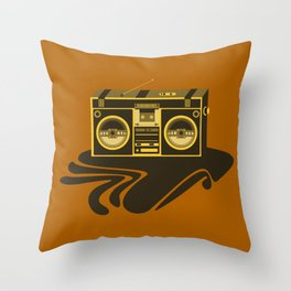 Radio Head Throw Pillow