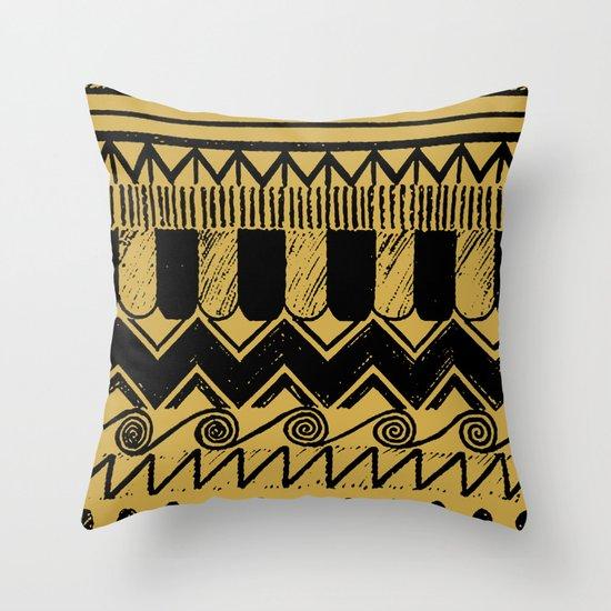 Aztec Egypt Throw Pillow