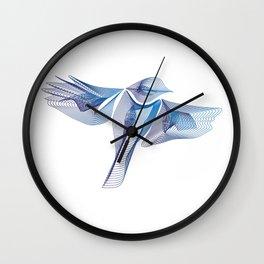 Blue Parus Major Wall Clock