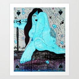 Zoe Thunder Art Print