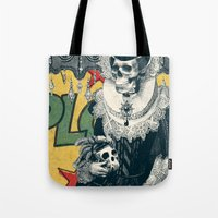 lady Tote Bags featuring Lady by Ali GULEC