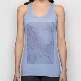 Marble Love Purple Metallic Unisex Tank Top