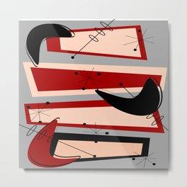 Mid-Century Modern Boomerangs Metal Print