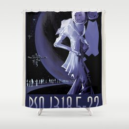 NASA Visions of the Future - PSO J318.5-22, Where the Nightlife Never Ends! Shower Curtain