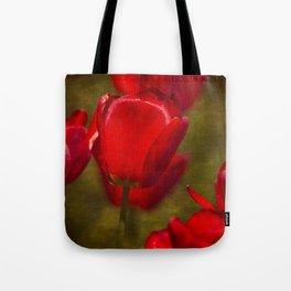 Springing Up Tulips Tote Bag