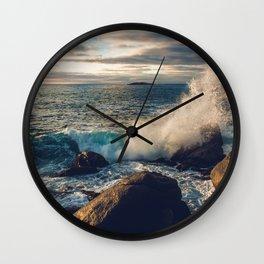Perfect Wavebreak Wall Clock