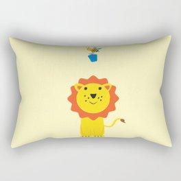 Lion and bee Rectangular Pillow