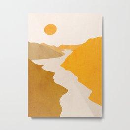 Minimal Art Landscape 7 Metal Print