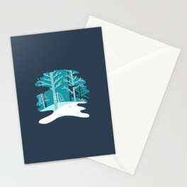 Winter Woods - Snowy Landscape Stationery Cards