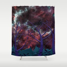 The Other Side of the Milky Way Shower Curtain