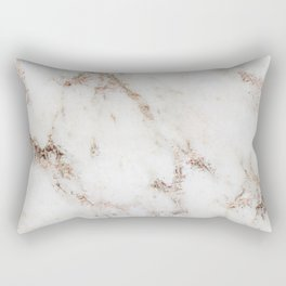 Artico marble - rose gold accents Rectangular Pillow