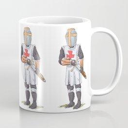 Knight Templar in armour with sword. Coffee Mug