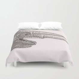 Happy Chameleon (pen and ink) Duvet Cover