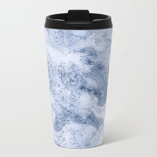 Abstract #৩ Metal Travel Mug