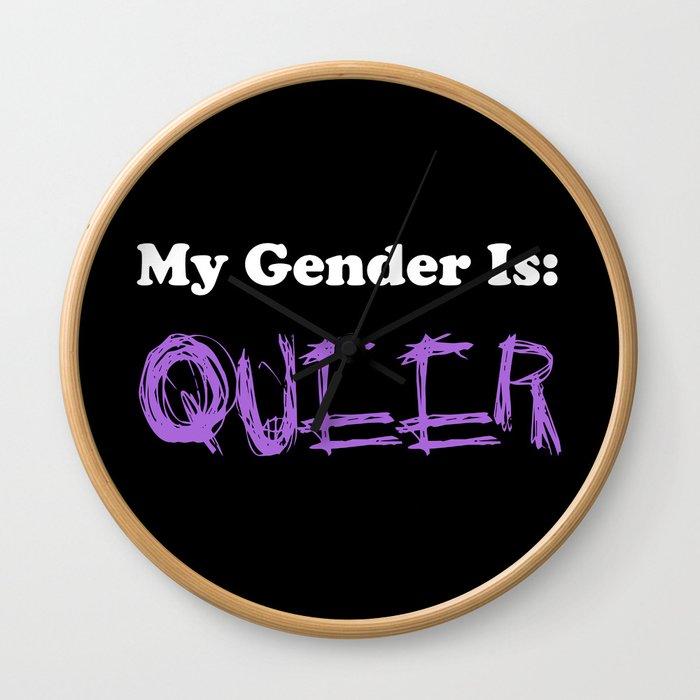 My Gender Is: QUEER Wall Clock