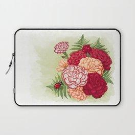 Full bloom   Ladybug carnation Laptop Sleeve