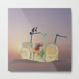 Yellow Spa Metal Print