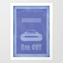 Retrogameing - Out Run Art Print