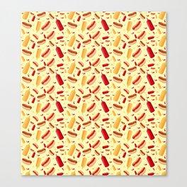 Hot Dog carnival Canvas Print