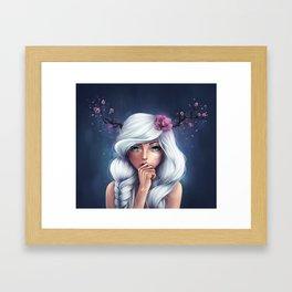 White-haired Girl Framed Art Print