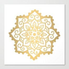 Gold mandala Canvas Print