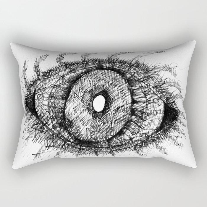 Black Eye Rectangular Pillow
