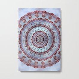 Pastel Shades Symmetries Metal Print