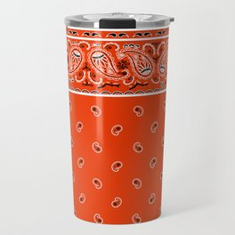 Classic Orange Bandana Travel Mug