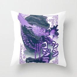 Shin Atomic Fire Born! Throw Pillow