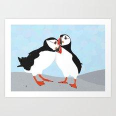 Puffin love you Art Print