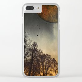 when the mOOn was young Clear iPhone Case
